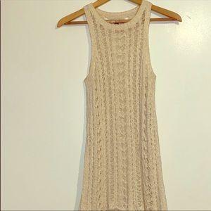 AE Crochet Open-Knit Sweater Tank Sz XS